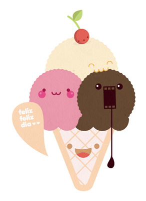 Quand tu  tape KAWAII sur google ! - Page 2 Kawaii-icecream